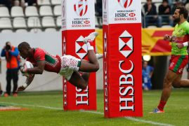 Kenya Sevens ease past Russia to storm Cup quarters