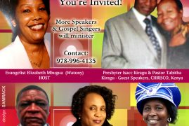 """Omega Anointing Ministry BOSTON CONVENTION""""Abiding in Christ"""" July 14-16th 2017 with Evangelist Elizabeth Mbugua (Watony)"""