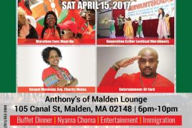 "New England Kenyan Association Presents the 3rd Annual ""BOSTON KENYAN FESTIVAL & Boston Marathon Celebrations Sat.April 15th 2017 @6Pm-10Pm All are Invited!"