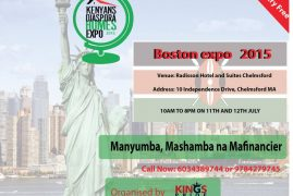 KENYANS DIASPORA HOME EXPO, NEW ENGLAND SAT JULY 11th & JULY SUN 12th RADISSON,HOTEL CHELMSFORD,MA