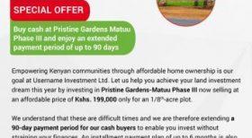 Pristine Gardens- Matuu Phase III