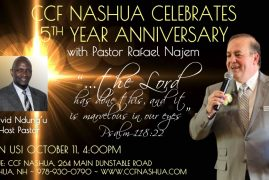 Invitation to CCF NASHUA 5th ANNIVERSARY,October 11th 2015