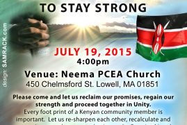 "Call to Prayer ""United Together to Stay Strong"" Kenyan American Pastor's Fellowship"