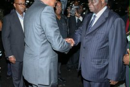 Photos: President Uhuru Kenyatta has announced 3 days of mourning upon the arrival of the body of Mama Lucy Kibaki