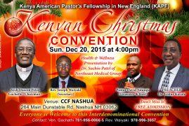 Invitation : Kenyan Christmas Convention Dec 20,2015 @CCF NASHUA