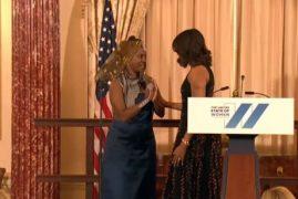 US First Lady Michelle Obama Honors Kenyan Entrepreneur Ciiru Waithaka Waweru [VIDEO]