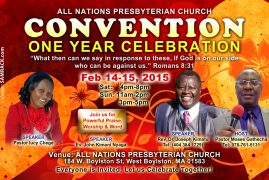 Convention & One Year Celebration at All Nations Presbyterian Church