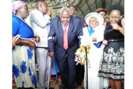 Love in the air: Elderly Nyeri couple says 'I do' after 63 years