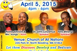 CHRISTIAN YOUTH TALENT SHOW, Sunday April 5, 2015