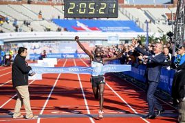 Mark the name Daniel Wanjiru in London Marathon