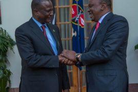 President Kenyatta briefed on developments in S. Sudan