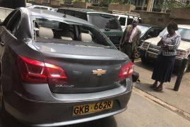Matiangi's motorcade stoned by rowdy youths Kawangware