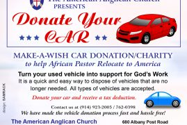 Make a wish Car Donation/Charity to help African Pastor Relocate to America