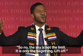 VIDEO: ARTICULATE HARVARD UNIVERSITY GRADUATE'S SPEECH LIGHTS UP THE HALL