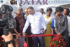 Photos:Qatar Airways  Makes its first  inaugural flight to Moi International Airport from Doha