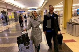 Nostalgic moment in DC Airport on eve of swearing in for Somali-American Ilhan Omar