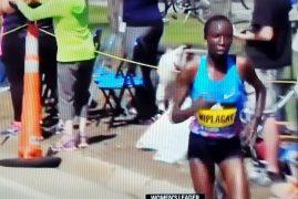 Your women's champion of the 2017 Boston Marathon, Edna Kiplagat!