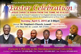 Kenya American Pastor's Fellowship EASTER CELEBRATION CONVENTION