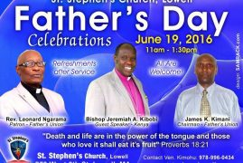 St Stephen's Church,Lowell Fathers Day Celebrations June 19,2016 11am to 1:30Pm