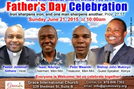 GIC Lowell Invites You this Sunday to Celebrate FATHERS DAY, 10:00Am