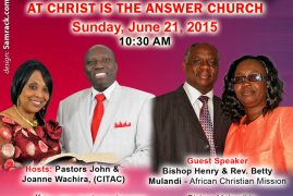 Celebrate Father's Day at Christ Is The Answer Church this Sunday June 21, 2015