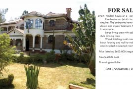 FOR SALE:Smart- modern house on a   acre plot. Five bedrooms (which includes 2 ensuite)