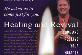 C.C.F NASHUA with David Turner Healing and Revival,Come and Recieve your Miracle.Its your Answer from God : FRIDAY MAY 1st 2015 7PM