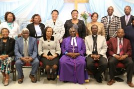 """""""The power of living at the edge of controversy""""  by the new Kenyan  Moderator of PCEA, Rt. Rev. Julius Mwamba at PCEA Neema Church, Lowell"""
