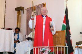 Videos/Photos:Bishop William Murdoch prays for father George's healing