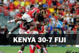 Kenya 7s Rugby team win Singapore Sevens without a single Kenyan journalist present?