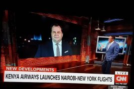 Top CNN anchor Richard Quest to fly on Kenya's inaugural direct flight to NY for his globally renowned Quest Means Business show