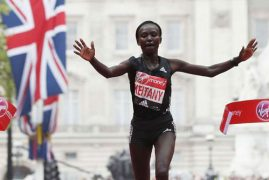 DOUBLE VICTORY FOR KENYA IN LONDON AS KEITANY SMASHES WORLD RECORD