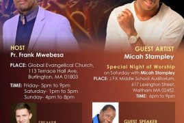 "Micah Stampley is coming to Boston for the ""God's Remnant Conference 2015"""