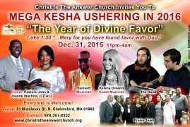 "CITAC Mega Kesha Ushering in 2016″The Year of Divine Favor"" Dec 31st 2015"