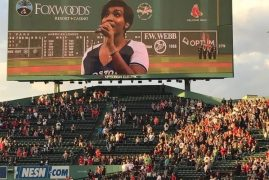 Unforgettable proud moment at Fenway Park for Mercy Mungai Psychology and Premed student at Northeastern
