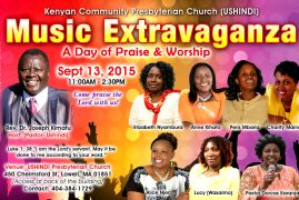 Ushindi Church Welcomes You to our Day of Praise(Sunday, Sept. 13, 2015)