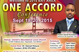 One Accord Bay Area Conference 2015