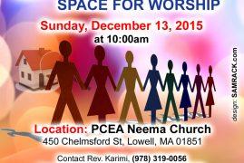 Invitation:PCEA Neema Fundraiser Dec.13th 2015@ 10:00Am All are Invited!
