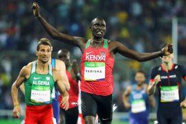 Kenya's defending champion David Rudisha wins 800 Metres final at Rio Olympics