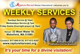 Rapture Harvest Mission International