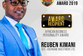 USERNAME INVESTMENTS CEO SET TO RECEIVE THE PRESTIGIOUS 2019 AFRICAN BUSINESS PERSONALITY AWARD ALONGSIDE HON RAILA ODINGA