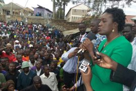 Rosemary Odinga tours Kibera after youth burn NYS toilets and clinics in protests