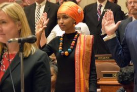 Photos: Ilhan Omar became the first Somali-American U.S. legislator as she was sworn in at the MN Capitol on Tuesday.