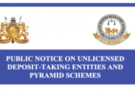 CBK & Sacco Regulator have Warned the Public Against Unlicensed SACCOs & Ponzi Schemes
