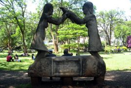 Vandals Destroy Colonial Statue of Queen Victoria at Jevanjee Gardens in Nairobi