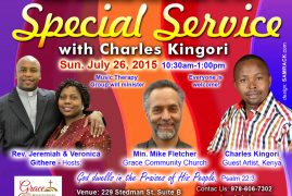 GIC Invites You To A Special Sunday Service with Charles Kingori