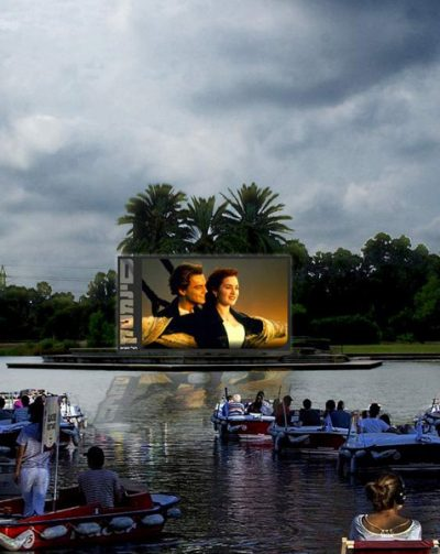 Tel Aviv introduces Israel's first 'sail-in' floating cinema