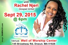 Invitation:Well of Worship Tuesday Praise with Rachel Njeri