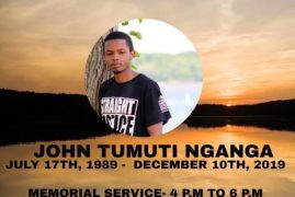 Memorial Service For John Tumuti Nganga On Dec 15th 2019 In Fredericksburg VA