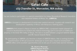 Special Presentation by USTAWI Biomedical Research Innovation at Safari Cafe